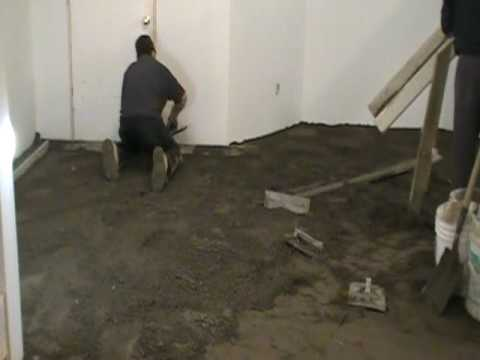 How to Level a Floor with Dry Pack Concrete 4 of 9  YouTube