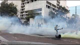 Police deploy tear gas at George Floyd protest in Fort Lauderdale
