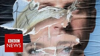 French election: Macron and Le Pen wrap up tense campaign - BBC News