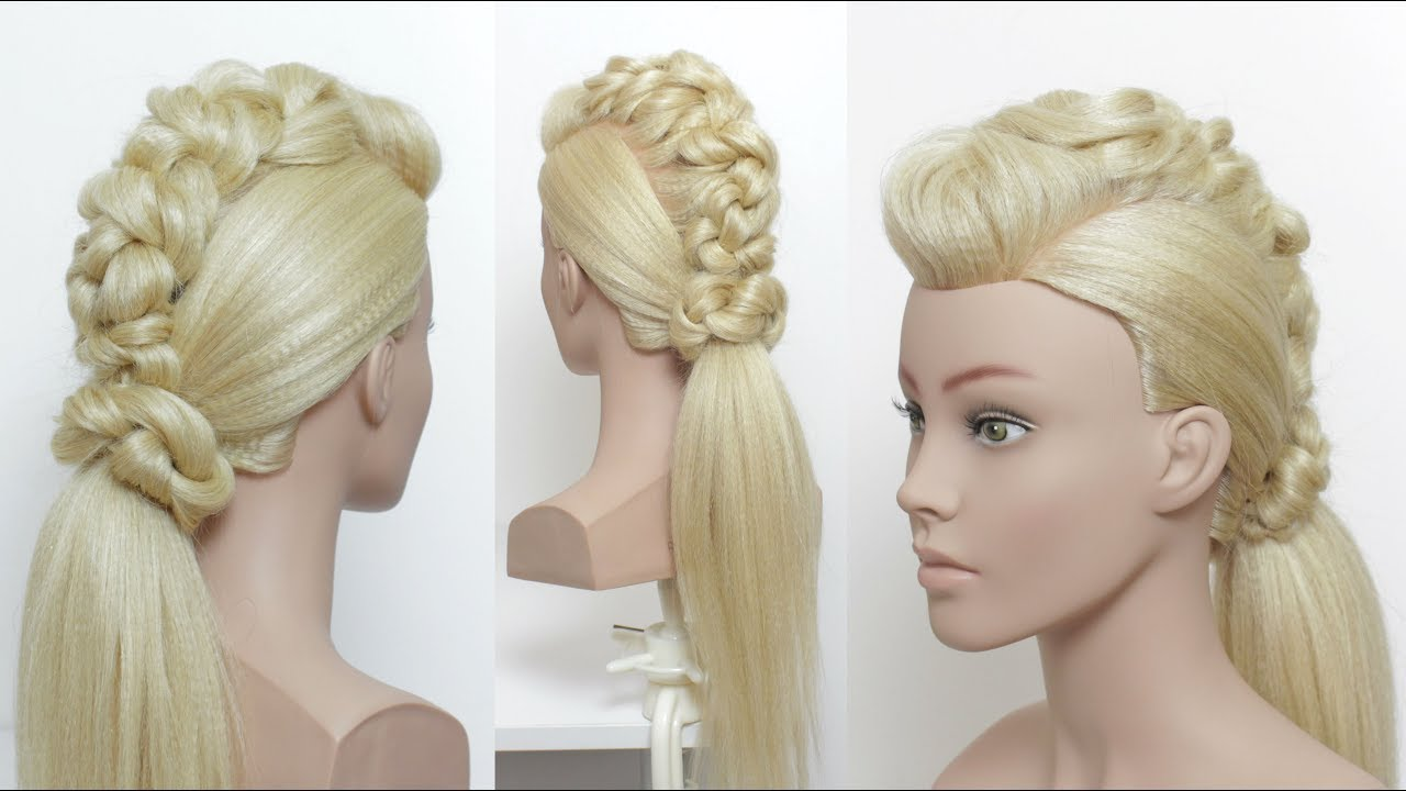 Prom Ponytail For Long Hair - YouTube