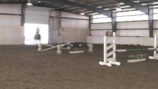 Jumping a Gymnastic Line on a Horse : Jumping 5 Fences on a Horse