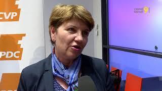 Viola Amherd auf dem offiziellen CVP-Ticket
