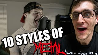 Hip-Hop Head REACTS to 10 STYLES OF METAL!!!