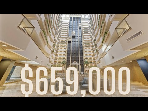Tallest Resort Style Atrium Luxury Condo Tour in New Jersey | Fort Lee