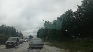 Pluies et inondations à Pau : route de Bordeaux