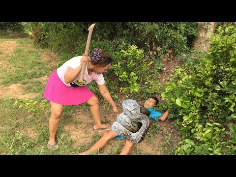 Thumbnail: A little Boy and Sister Catch Big Snake By Digging the Hole