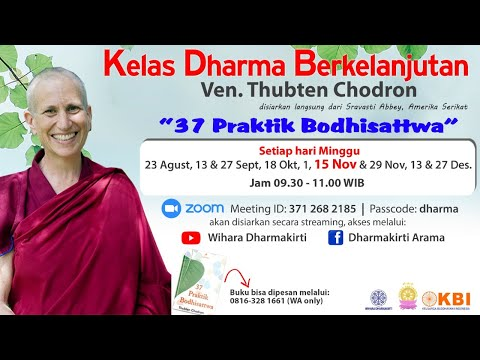 Kelas Dharma Berkelanjutan Ven Thubten Chodron 15 November 2020