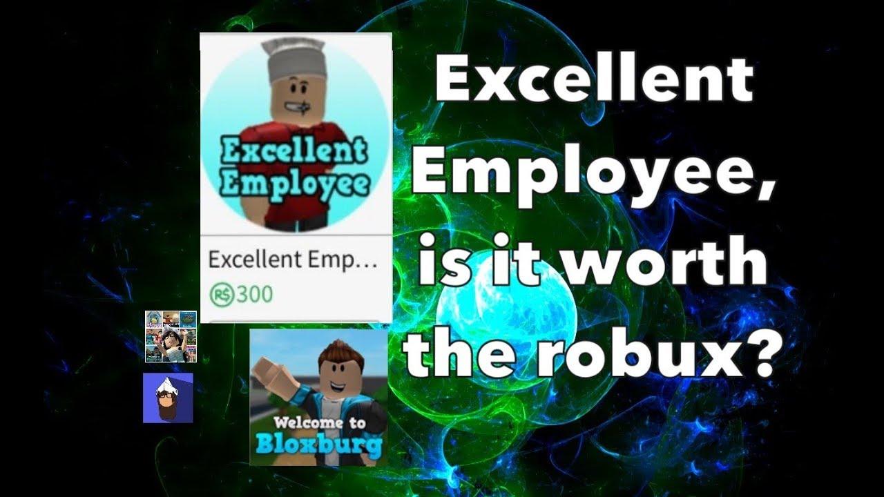 Buying Excellent Employee Gamepass  Bloxburg  Roblox