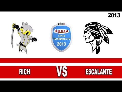 1A Volleyball: Rich vs Escalante High School UHSAA 2013 State Tournament Round 1