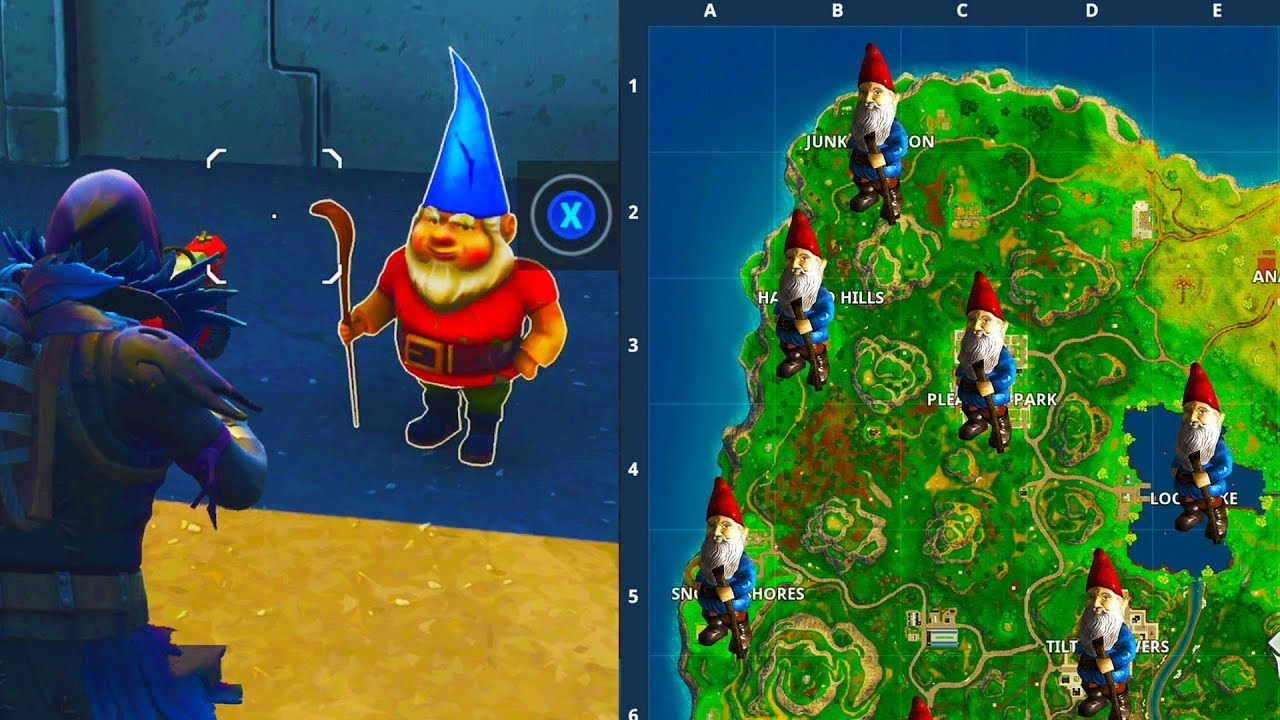 7 GNOME LOCATIONS In FORTNITE BATTLE ROYALE Week 7