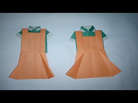 Origami paper dress crafts for beginners   Diy paper dress