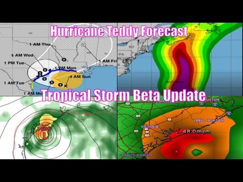 Hurricane Teddy Forecast - Tropical Storm Beta Update, No Hurricane - WeatherMan Plus