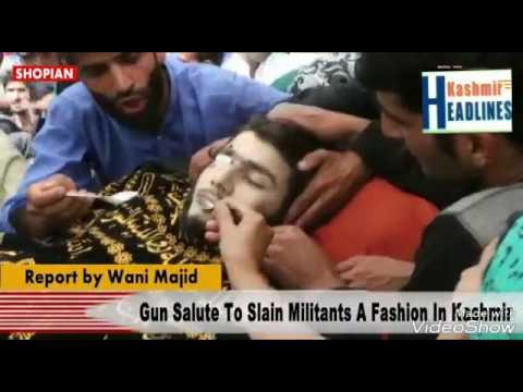 At least ten militants appeared in the funeral of slain Lashkar-e-Toiba militant Nasir Wani
