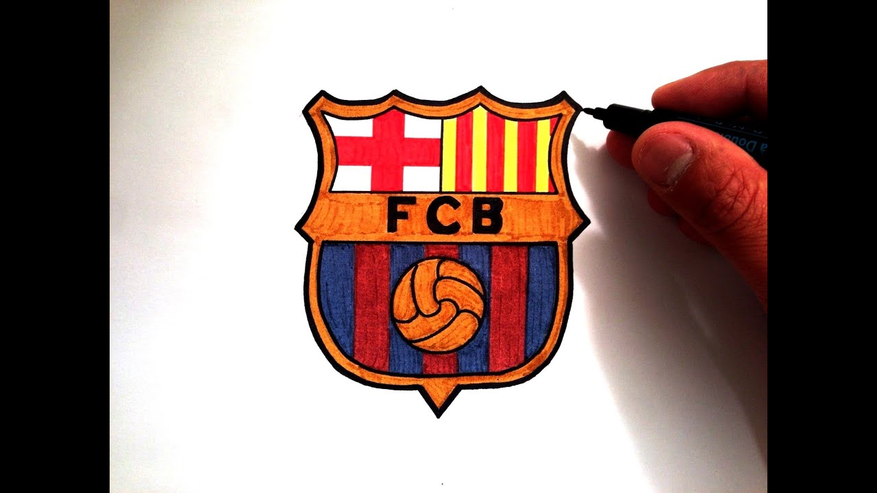 751833682b2 How to Draw the FC Barcelona Logo - YouTube