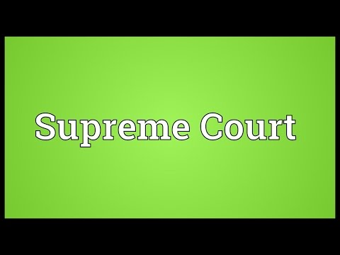 Supreme Court Meaning