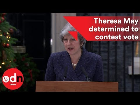 Theresa May: 'I'll contest vote with everything I've got'