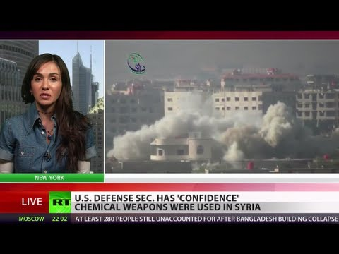 US Defense Sec. Hagel 'confident' chemical weapons used in Syria