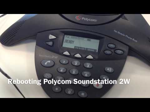 Rebooting Polycom Soundstation 2W Wireless Conference Phone