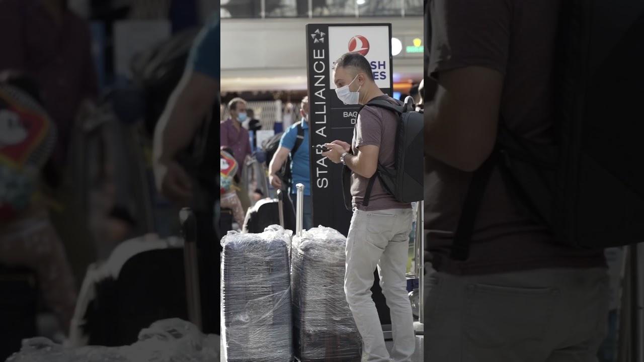 Crazy airport prank / TwinsFromRussia tiktok #shorts