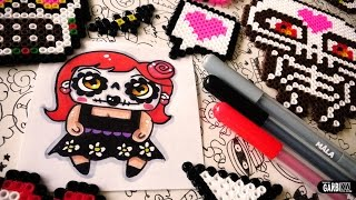 Day of the Dead Drawings - How To Draw Sugar Skull Girl by Garbi KW