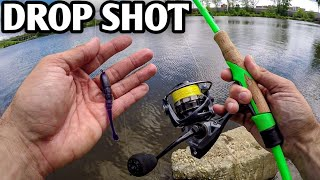 Drop Shot Fishing from the Bank (Testing the Xzone Finesse Slammer)