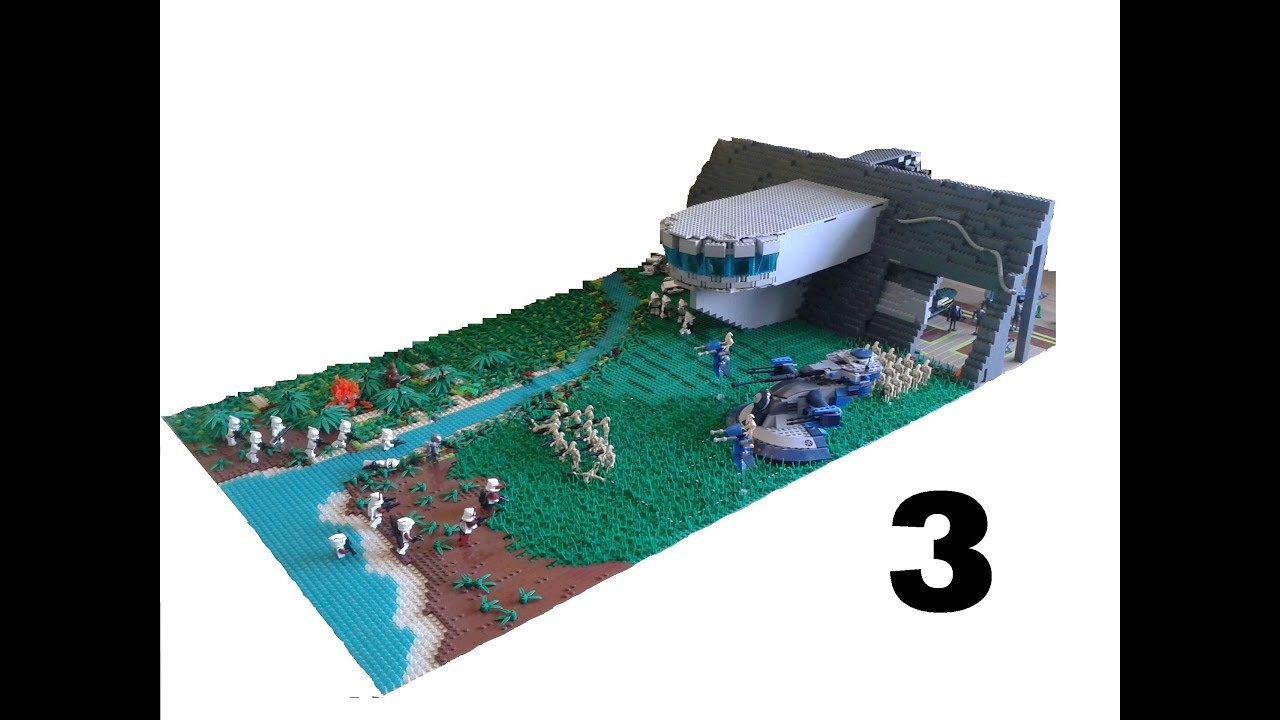 Lego star wars huge droid mountain base on kashyyyk 3 youtube - Lego star wars base droide ...