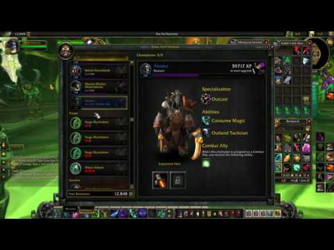 Optimized Class Order Hall Gold Making in Legion - EXTREMELY