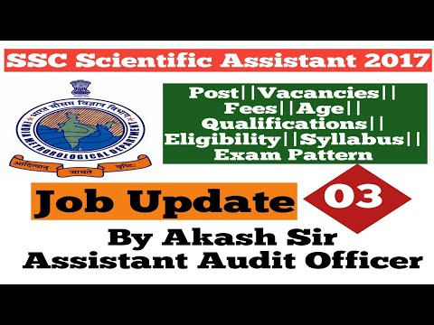 SSC Recruitment for Scientific Assistant in India Metrological Department