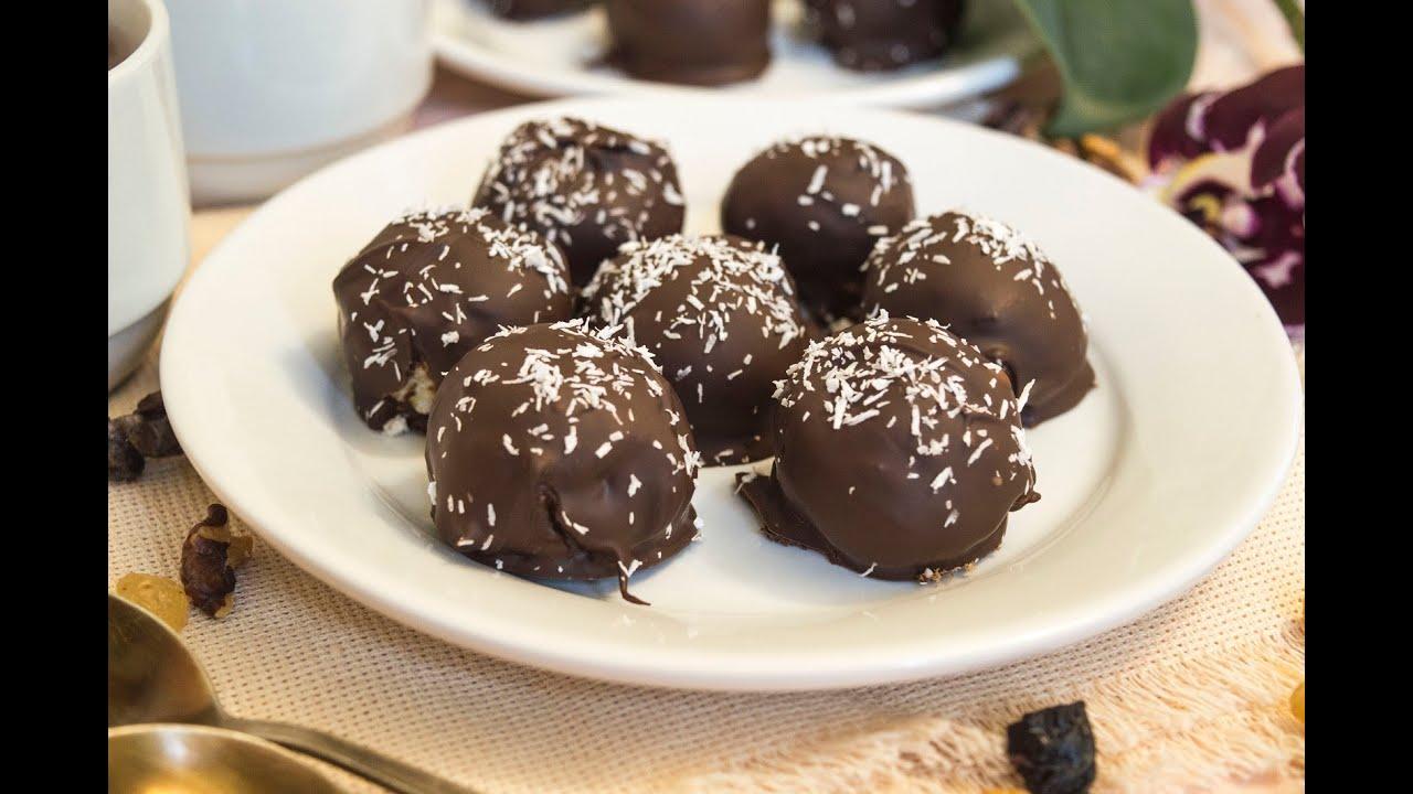 рецепт творожных шариков в шоколаде