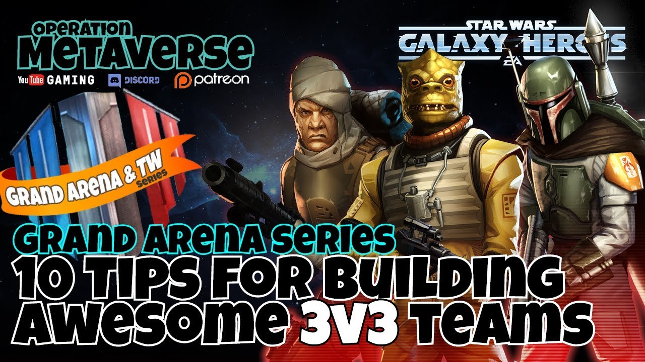 Ten essential tips for building 3v3 squads in Grand Arena