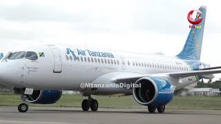 KISHINDO CHA NDEGE NYINGINE MPYA AIRBUS A220-300 KATIKA ARDHI YA TANZANIA