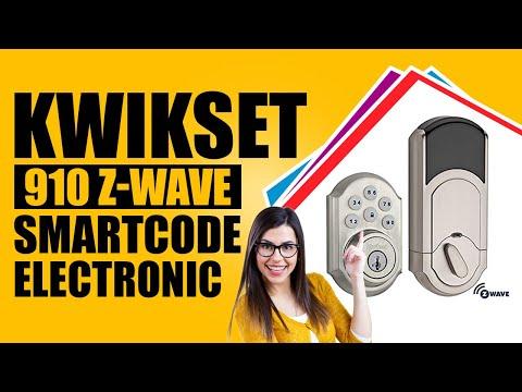 kwikset-910-z-wave-smartcode-electronic-touchpad-deadbolt,-works-with-alexa-via-smartthings-*