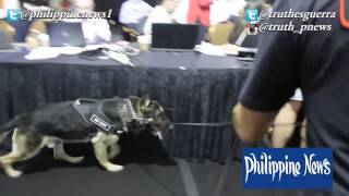 K9 Unit Sniffs For Bombs At Media Center #maypac