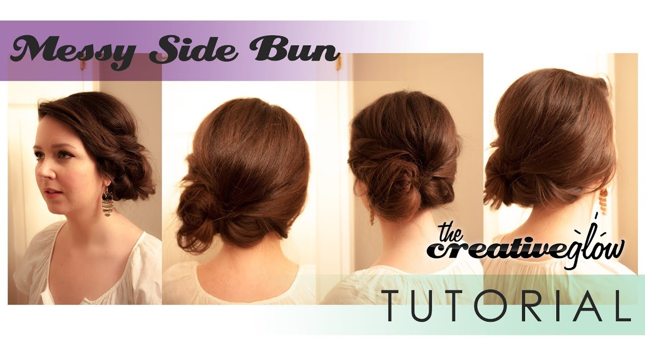 Messy Side Bun Hairstyle Tutorial Awesome Quick and Easy