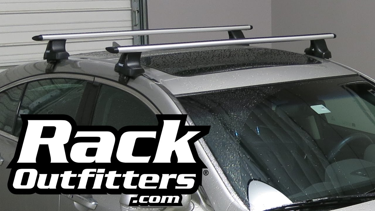 Acura TL Thule Rapid Traverse SILVER AeroBlade Roof Rack U002712 U002714 By Rack  Outfitters