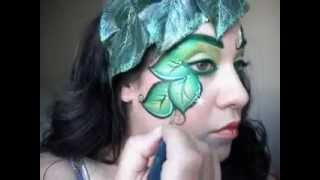 Poison Ivy Makeup, face painting Tutorial Thumbnail