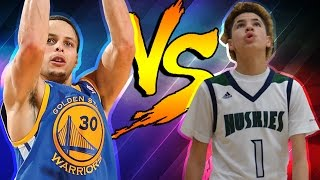 LAMELO BALL VS STEPHEN CURRY 1V1 CRAZY SHOOTOUT! OMG STEPH CURRY AND LAMELO ARE 3PT GODS!