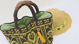 C337 모칠라백st 전통문양 가방  코바늘 가방뜨기