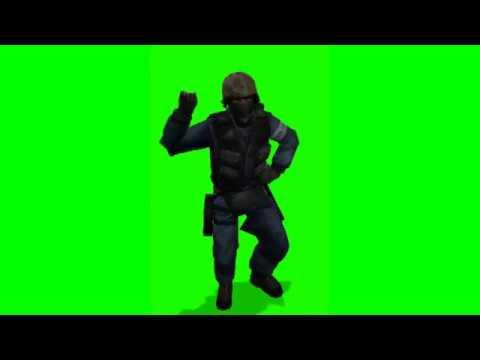 gmod dance on a green screen