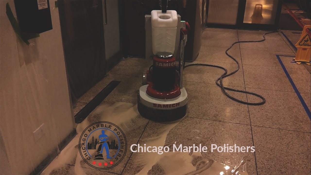 Grinding Terrazzo Floor With Planetary System