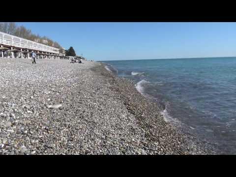 Лазаревское морской курорт уже купаются (4К полный экран)