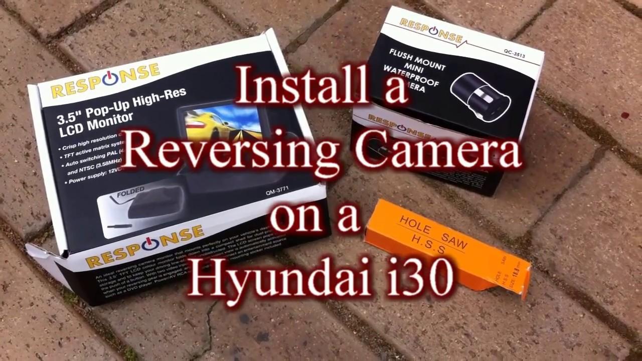maxresdefault how i install a reversing camera on a hyundai i30 youtube hyundai i30 towbar wiring diagram at metegol.co