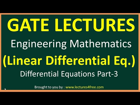 Differential equation Part 3 (Linear Differential equation) Engineering Mathematics for GATE