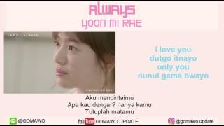 Gambar cover LIRIK YOON MIRAE - ALWAYS [LIRIK KOREA, INDONESIA & MV]