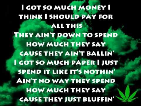 Wiz Khalifa - Bluffin (Lyrics) O.N.I.F.C