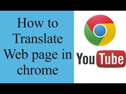 How to translate a web page in chrome manually