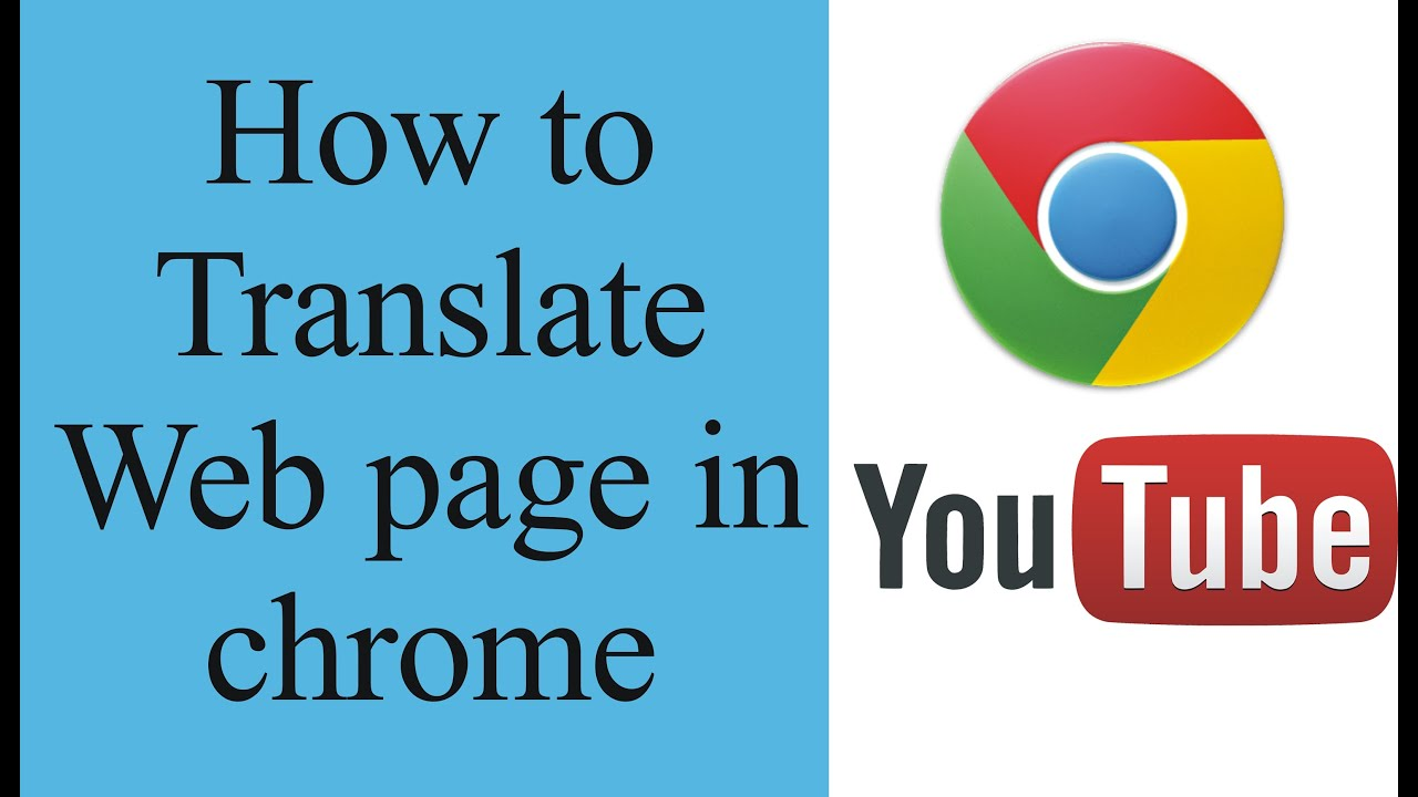 How to translate a web page in chrome manually - YouTube