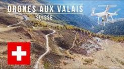 Drones aux Valais, Suisse - Col du Mase (4K)