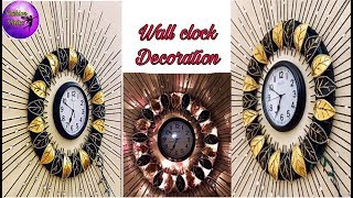 Wall clock decoration | wall decoration idea | home decor