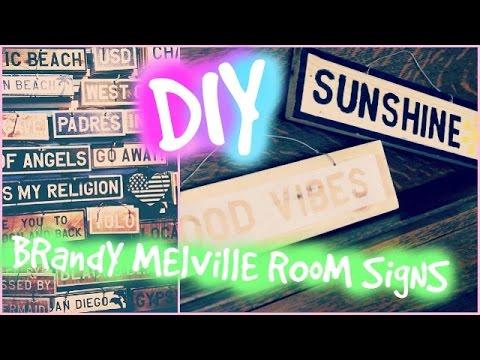 DIY Brandy Melville Inspired Room Decor Signs YouTube
